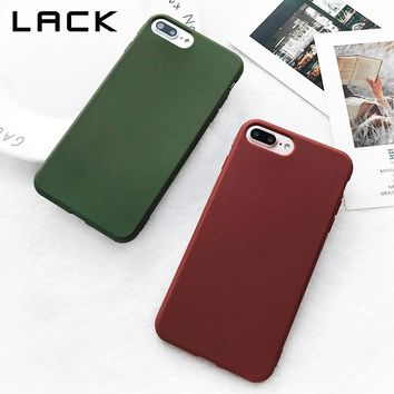 LACK Cute Candy Color Phone Case For iphone 6 Case Retro Wine Red Dark Green Cover Soft TPU Silicone Cases For iphone 6S 6 Plus