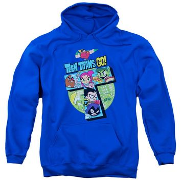 Teen Titans Go - T Adult Pull Over Hoodie Officially Licensed Apparel