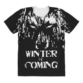 game of thrones direwolf winter is coming All Over Women's T-shirt