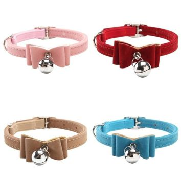 Kitten Collar With Elastic Safety Bowtie And Bell
