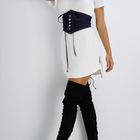 Hailey Corset Belt- Denim