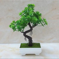 1pcs/lot Artificial flower plant potted green planting wedding home decoration small ornaments desktop simulation flower bonsai