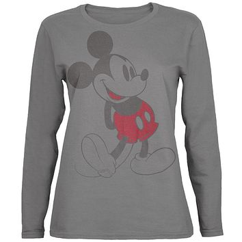 Mickey Mouse - Vintage Mickey Juniors Long Sleeve T-Shirt
