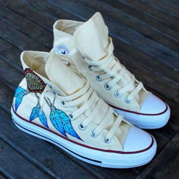 CREYUG7 Custom Hand Painted Converse Sneakers Dream by BStreetShoes