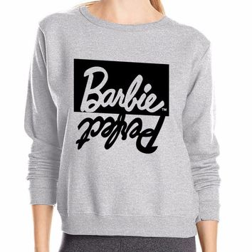 Perfect Barbie Pullover Sweatshirt