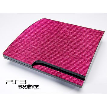 Pink Fabric Skin for the Playstation 3
