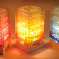 DIY Block Colorful Light Desk Lamp