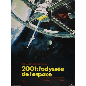 2001: A Space Odyssey (French) 27x40 Movie Poster (1968)