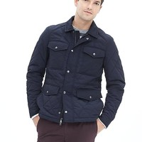 Banana Republic Mens Quilted Four Pocket Jacket