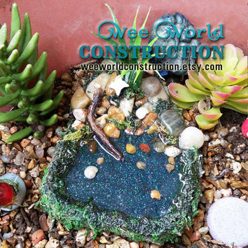 Fairy Garden Pond, Fairy Pond, Miniature Pond, Fairy Garden Accessory, Miniature Garden Pond, Miniature Garden Accessory, Fairy Garden Kit