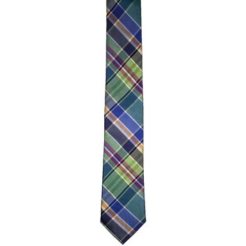 Express Plaid Skinny Silk Tie - Multicolor