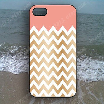 Chevron pink Chevron golden Chevron Phone case,Samsung Galaxy S5/S4/S3,iPhone 4/4S case,iPhone 5 case,iPhone 5S case,iPhone 5C case,B87