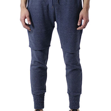 Zenith Double Layer Knitted Denim Jogger Sweatpants