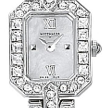 Wittnauer Krystal Collection Women's Mother of Pearl Bracelet Watch 10L16