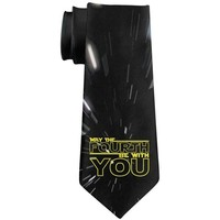 LMFONFT May The Fourth Be With You All Over Neck Tie