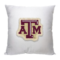Texas A&M Aggies NCAA Team Letterman Pillow (18x18)