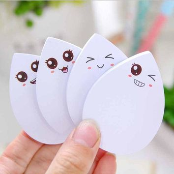 DCCKL72 DIY water drop face smily memo pad Sticky label post it school sticky note for school office supplies stationery 7.4