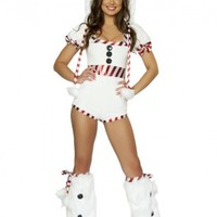 White Snowman Sexy Romper @ Amiclubwear costume Online Store,sexy costume,women's costume,christmas costumes,adult christmas costumes,santa claus costumes,fancy dress costumes,halloween costumes,halloween costume ideas,pirate costume,dance costume,costum
