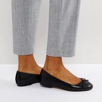 ASOS LIFESAVER Leather Ballet Flats at asos.com
