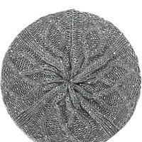 Cable Slouchy Beret in Gray – bandbcouture.com