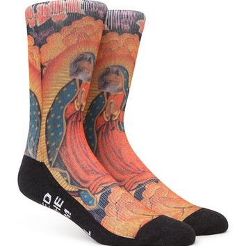 """New"" Socks Virgin Meowy Crew Socks - Mens Socks - Multi - One"