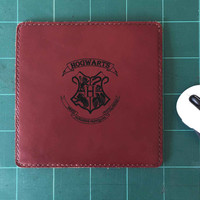 Hogwarts Mouse Pad Leather Harry Potter Mousepad Mouse Mat