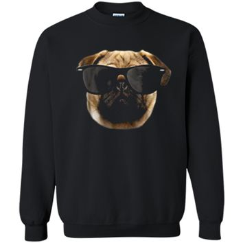 Funny Pug - Cool Pug - Pug Gift for Boys & Girls Printed Crewneck Pullover Sweatshirt