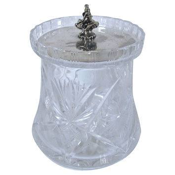 Crystal Silverplate Biscuit/Ice Bucket