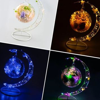 glass ball decoration home table Led string fairy lights