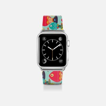 geo fish mint apple watch band Apple Watch Band (38mm)  by Sharon Turner | Casetify