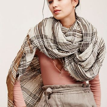 Free People Winona Reversible Plaid Scarf