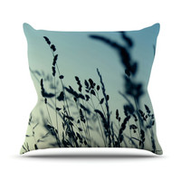"""Ingrid Beddoes """"Cool Breeze"""" Blue Yellow Throw Pillow"""