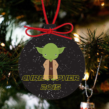 Personalized Christmas Star Wars Ornament - Yoda