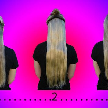 "20"" Straight Clip-In Extension Piece *Hot HairDo* ~Like Human Hair~ 2-3 tone"