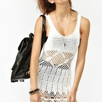 Boardwalk Crochet Dress - White
