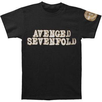 Avenged Sevenfold Men's  Logo & Deathbat Vintage T-shirt Black