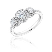 Forevermark Center of My Universe Round Three Diamond Halo Ring 1ctw
