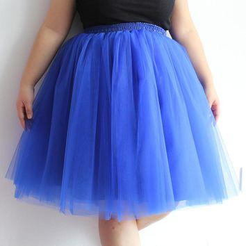 7 Layers Maxi Long Tulle Skirt Tutu Women Skirt High Waist
