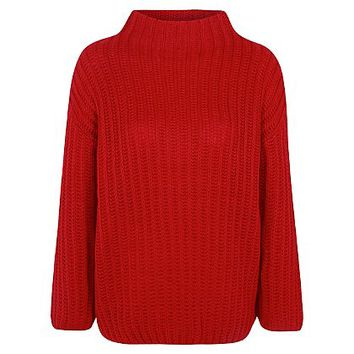 Oversize Chunky Knit High Neck Jumper | Women | George