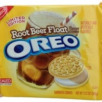 Nabisco, Oreo, Root Beer Float Creme, Vanilla Sandwich Cookies, Limited Edition, 12.2oz Bag (Pack of 2):Amazon:Grocery & Gourmet Food