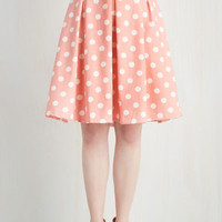 ModCloth 80s Mid-length Full Sweet Yourself Skirt in Strawberry