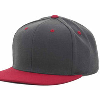 Charcoal/Red Blank Snapback