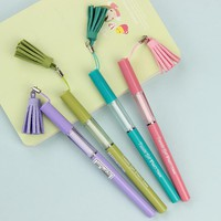 4PCS Unique and Novel Tassel Pendant Gel Pen Stationery Novelty Gift Office Material School Supplies