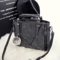 Vintage Gray Crossbody Handbag Shoulder Bag