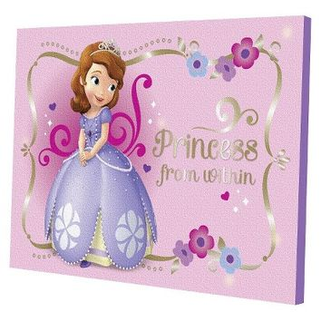 Disney® Sofia the First LED Canvas Wall Art