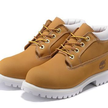 Timberland Anti Fatigue Outdoors Classics Shoe Boots Yellow and white state