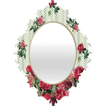 Belle13 Vintage Rose Pattern Baroque Mirror