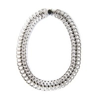 Misha Bib Necklace - Silver
