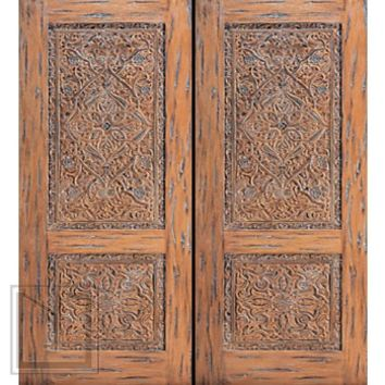 Ottoman Hand Carved Double Door with stylized Floral motifs