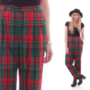 Shop Vintage Plaid Pants on Wanelo